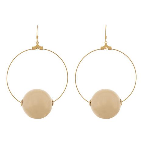 Ball Hoop Earrings, ${color}