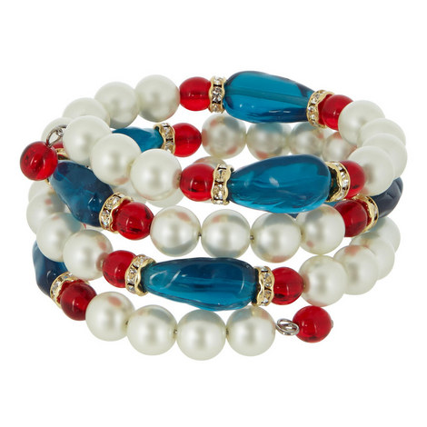 Pearl and Sapphire Coil Bangle, ${color}