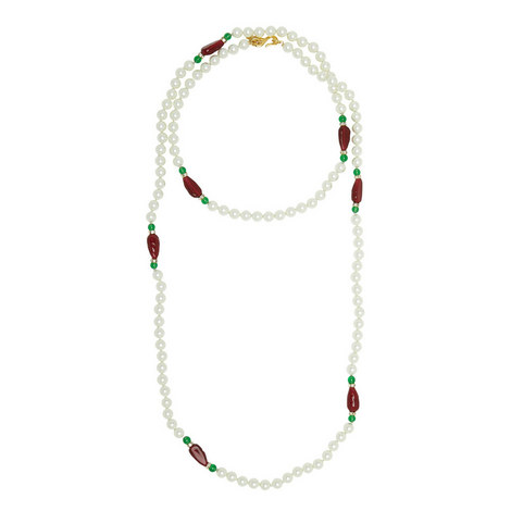 Pearl and Stone Necklace, ${color}