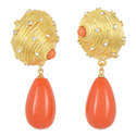 Shell Drop Clip-On Earrings, ${color}