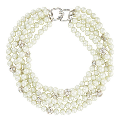 Crystal Fireball Pearl Necklace, ${color}