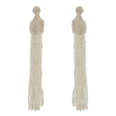 Bead Tassel Earrings , ${color}