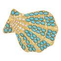 Bead Embellished Shell Brooch, ${color}