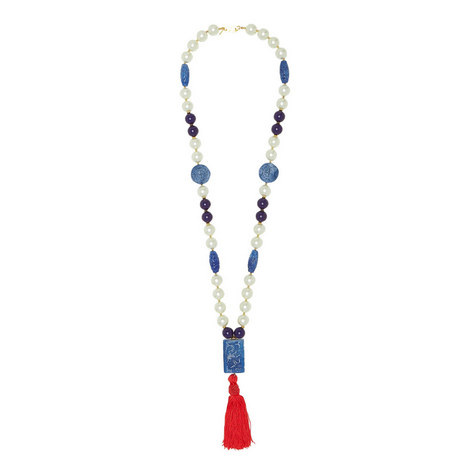 Pendant Tassel Necklace, ${color}