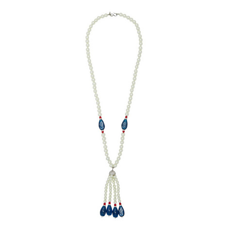 Tassel Pearl Necklace, ${color}