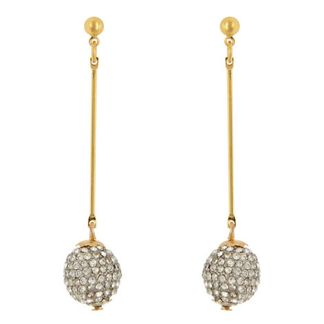 Crystal Ball Drop Earrings, ${color}
