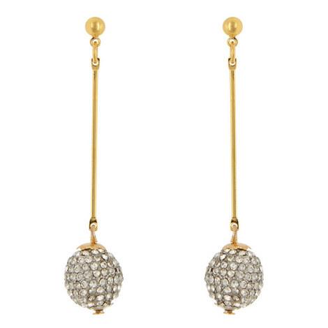 Crystal Ball Drop Earrings, ${color}