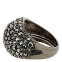 Hematite Pavé Ring, ${color}