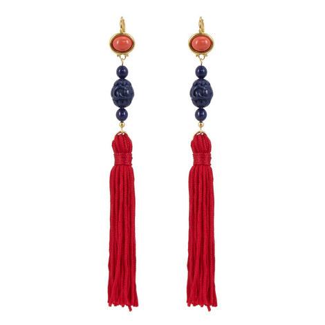 Tassel Drop Earrings, ${color}