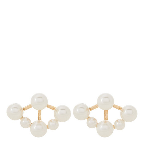 Pearl Detail Studs, ${color}