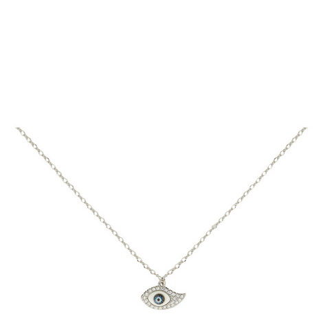 Rhinestone Eye Pendant Necklace, ${color}
