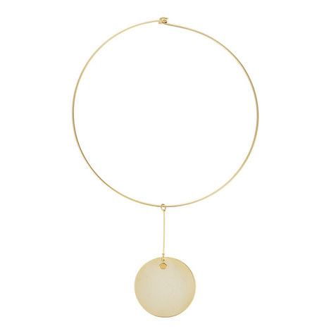Disc Pendant Choker, ${color}
