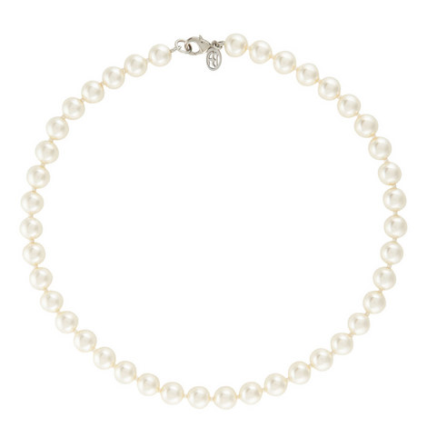 Single Strand Pearl Necklace, ${color}