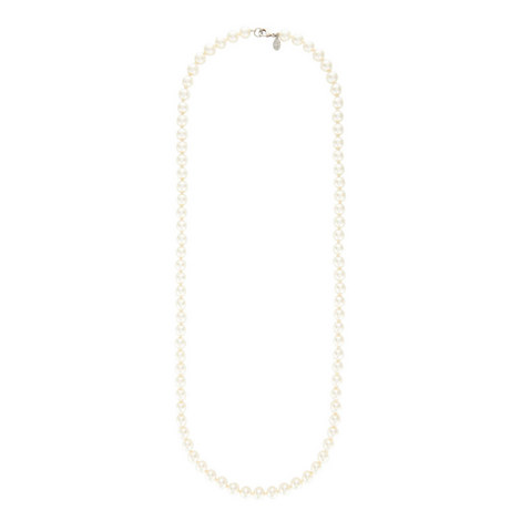 Long Pearl Necklace, ${color}