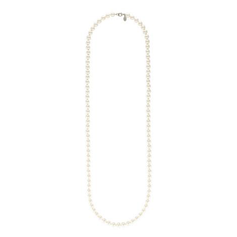 Single Strand Pearl Necklace, ${color}