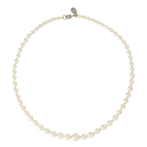 Graduated Faux Pearl Necklace, ${color}