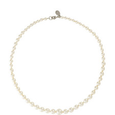 Graduated Faux Pearl Necklace