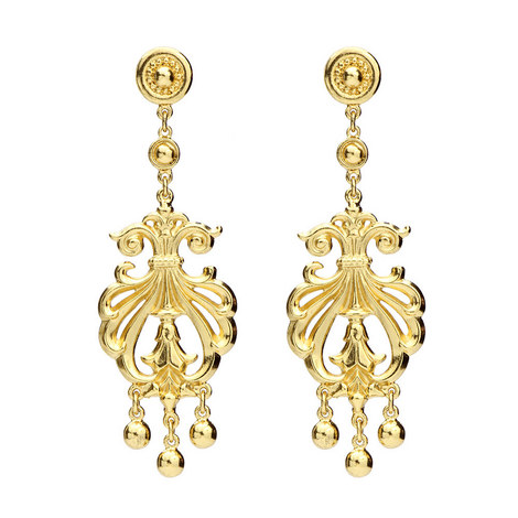 Arabesque Drop Earrings, ${color}