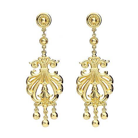 Arabesque Drop Earrings, ${color}
