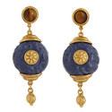 Stone Drop Earrings, ${color}