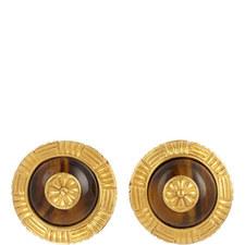 Tiger Eye Clip-On Earrings