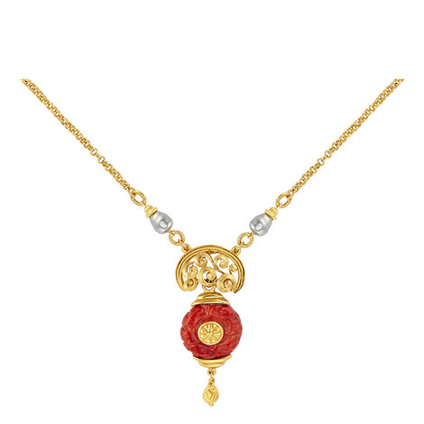 Pendant Short Necklace, ${color}