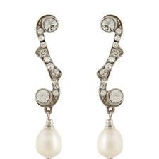 Crystal Pearl Drop Earrings