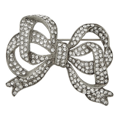 Large Crystal Bow Brooch, ${color}