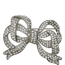 Large Crystal Bow Brooch