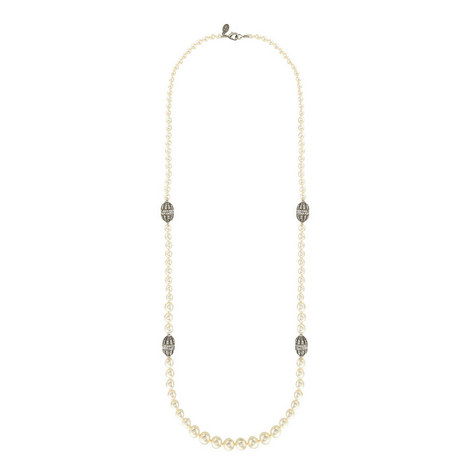 Pearl Rondelle Necklace, ${color}