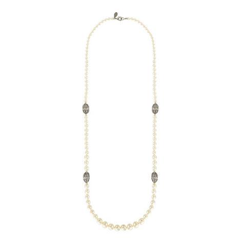 Pearl Rondelle Necklace, ${color}
