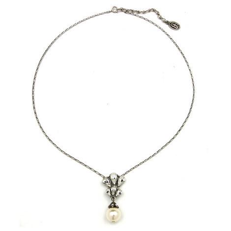 Drop Pearl Necklace, ${color}