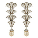 Crystal Pearl Shell Drop Earrings, ${color}