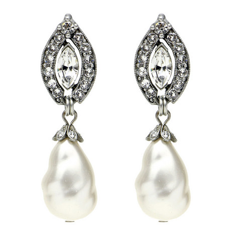 Pearl Drop Earrings, ${color}
