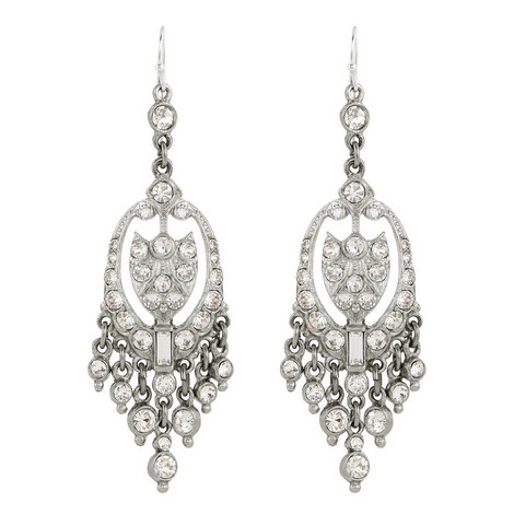 Crystal Chandelier Earrings, ${color}