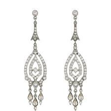 Crystal Pavé Drop Earrings