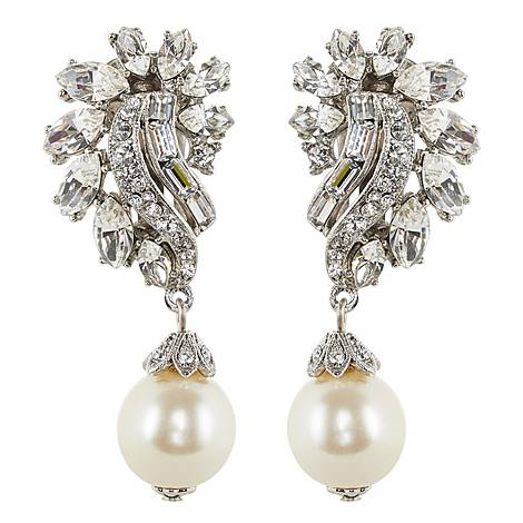 Paisley Pearl Drop Earrings, ${color}