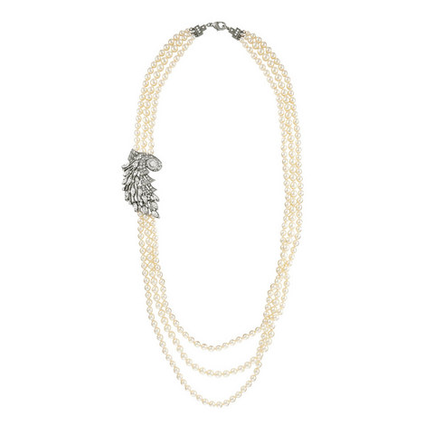 Three-Strand Pearl Necklace, ${color}