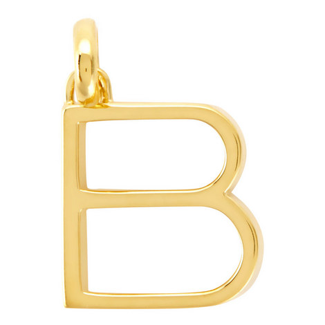 Gold Alphabet Pendant, ${color}