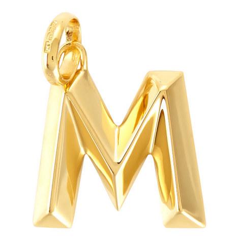 Gold Alphabet Pendant, ${color}