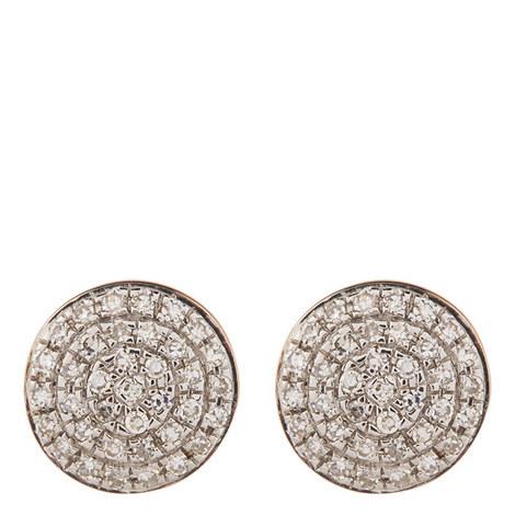 Ava Button Stud Earrings, ${color}