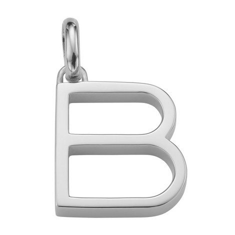 Sterling Silver Alphabet Pendant, ${color}