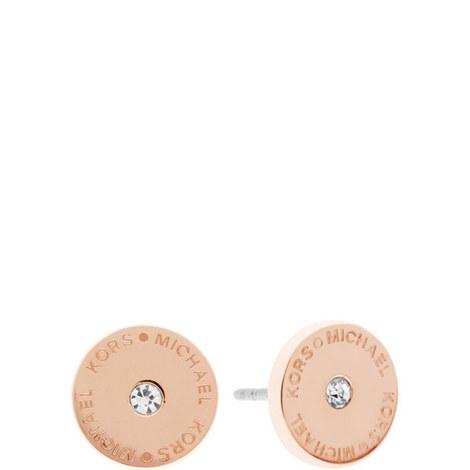 Crystal Stud Earrings, ${color}