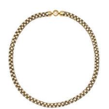 Crystal Tubular Chain Necklace