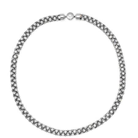 Crystal Tubular Chain Necklace, ${color}