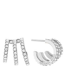 Three-Hoop Stud Earrings
