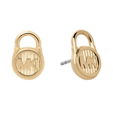 Logo Lock Earrings, ${color}