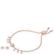 Stud Earrings and Bracelet Set