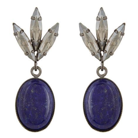 Lapis Stone Drop Earrings, ${color}