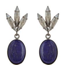 Lapis Stone Drop Earrings